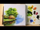 How to paint trees and bushes in acrylics part 1