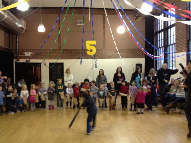 Sorin's Fifth Birthday - Piñata!
