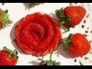 How To Make DIY Strawberry Roses Fruit Carving Garnish Sushi Garnish 草莓玫瑰花