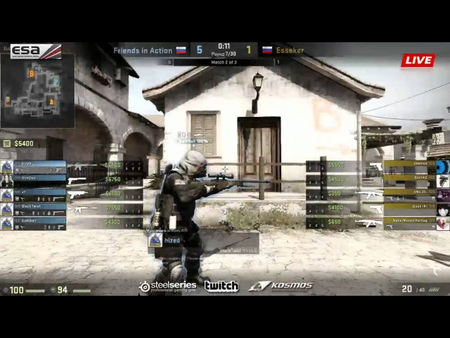 Esseker -vs- |FRIENDS IN ACTION| || Grand Final Game 2 || Kosmos.Cup