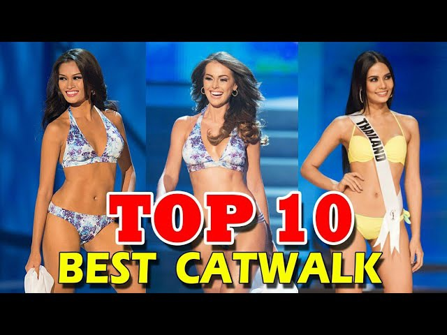 [HD]BEST CATWALK Top 10 Miss Universe Swimsuit Evening Gown
