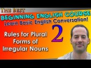 02 - Rules for Plural Forms of Irregular Nouns - Beginning English Lesson - Basic English Grammar