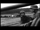 German soldiers smoke American cigarettes under wrecked US armored car near Stock Footage