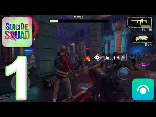 Suicide Squad: Special Ops - Gameplay Walkthrough Part 1 - Waves 1-11 (iOS, Android)