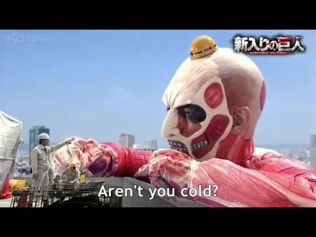【進撃の巨人】Attack On Titan Parody Video (Giant Newcomer) [ENG SUB] 新入りの巨人 パロディー