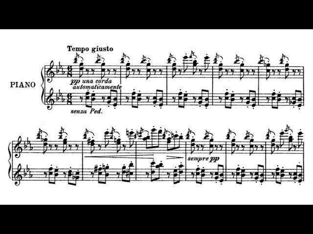 Emil von Sauer - Music Box (audio sheet music)