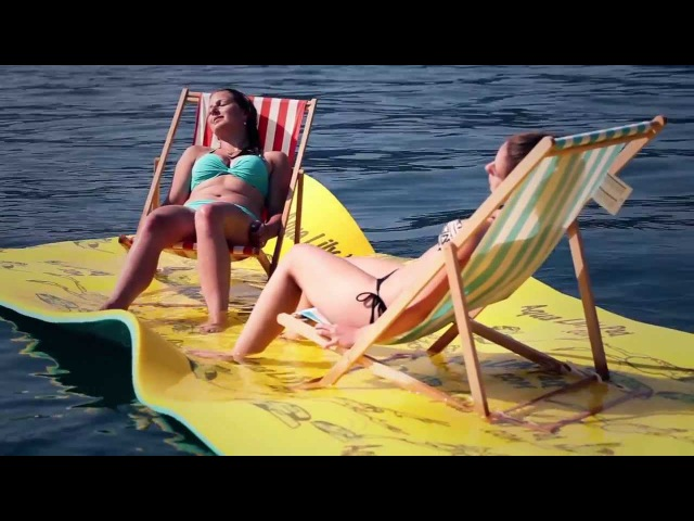 Aqualilypad for standup paddling wakeboard fun relax and pleasure