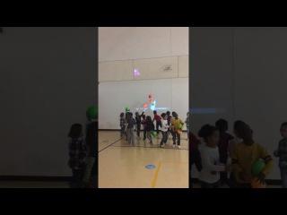 1st Grade PE Class - funny baby
