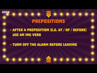 Verb patterns  the grammar gameshow episode 7