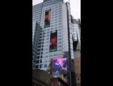 171127 Chanyeol's birthday ads in 42nd Street, New York
