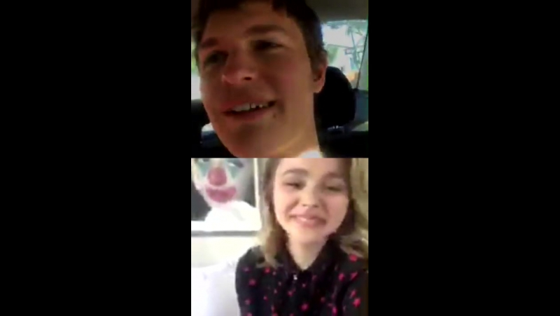 LIVE QA with Chloë Grace Moretz and Ansel Elgort made on Instagram on Thursday Dec 7, 2017 at 1030am PST
