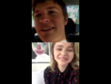 LIVE Q&A with Chloë Grace Moretz and Ansel Elgort made on Instagram on Thursday Dec 7, 2017 at 10:30am PST