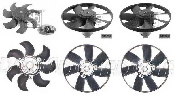 Электродвигатель, вентилятор радиатора для AUDI 200 Avant (44, 44Q)