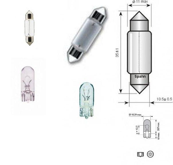 Лампа накаливания, фонарь освещения номерного знака; Лампа накаливания, задний гарабитный огонь для AUDI A1 Sportback (8XA, 8XK)
