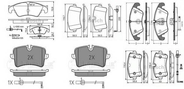 Комплект тормозных колодок, дисковый тормоз для AUDI A6 Avant (4G5, C7, 4GD)
