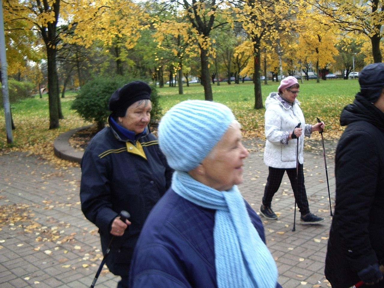 Занятие по Скандинавской ходьбе на Турку