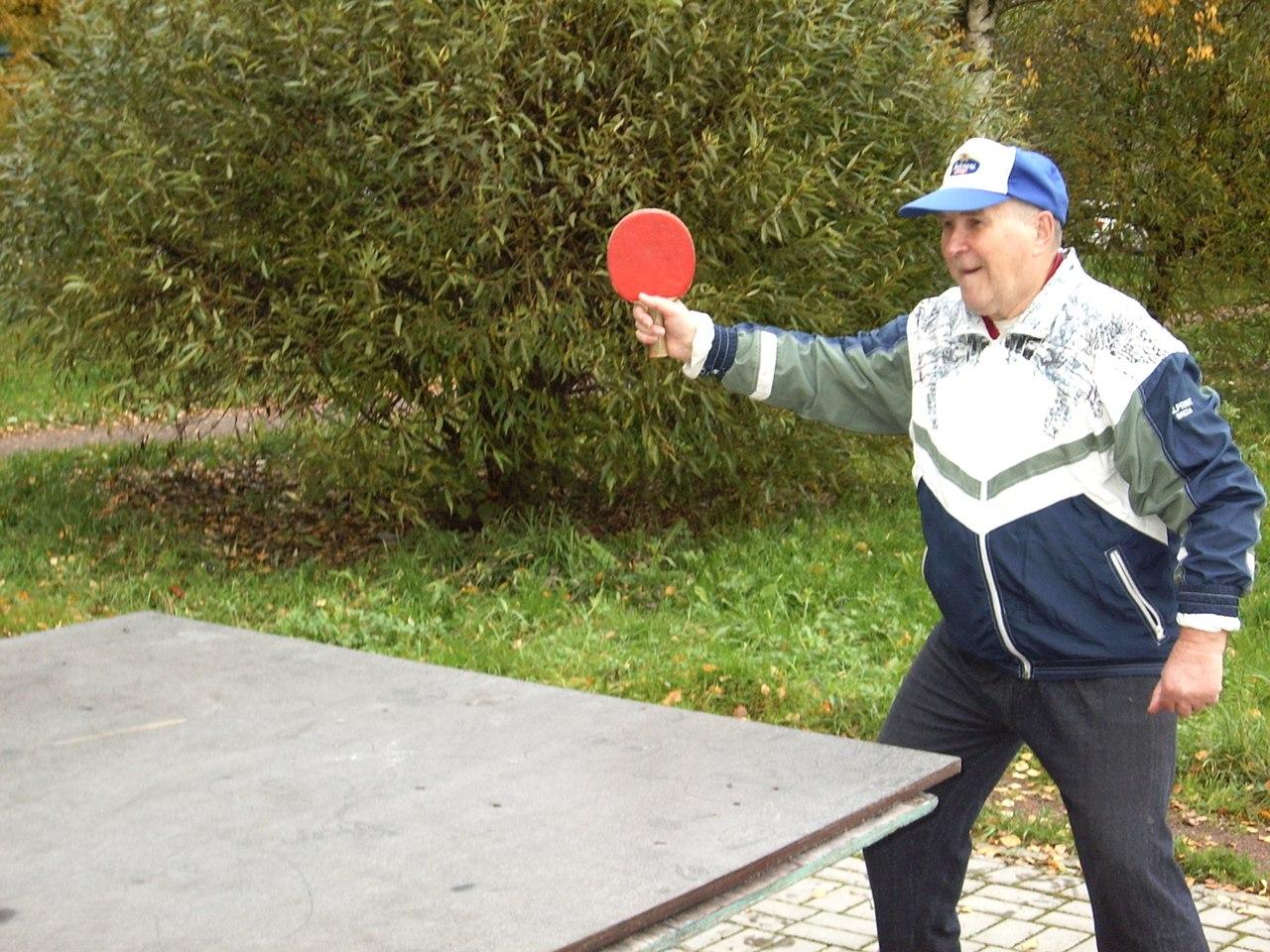Настольный теннис на воздухе