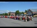 Шествие участников песенного праздника в Олонце