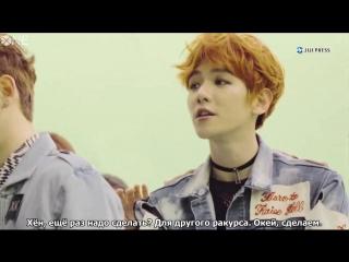 РУС.САБ 170501 Jijipress  EXO-CBX Ka-CHING! Music Video Making