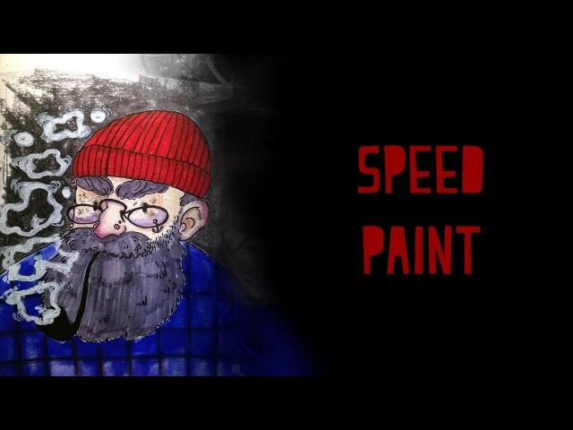 CatCore: Старый моряк - спидпейнт - speedpaint - old sailor - рисую в скетчбуке