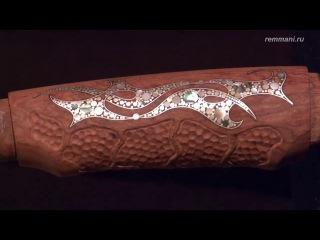 Инкрустация рукояти из древесины бубинга