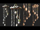 How To Make Wind Chimes out of newspaper , DIY Wind Chime wall Hanging Using NewsPaper