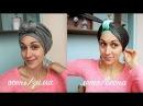 Как сделать головной убор из палантина с плоским узлом на зиму, лето, осень. Top knot turban