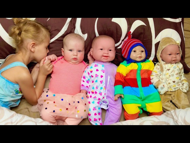 Сrying Little Baby and Dolls Are You Sleeping Brother John Nursery Rhymes Song for Kids Toddlers