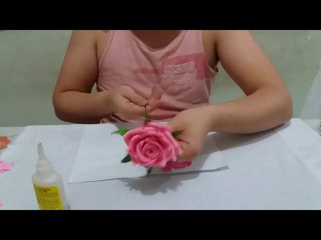 Tutorial: Rosa de EVA sem frisador