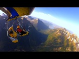 Ultralight Trike over Glacier National Park - Among the kindred Spirits of the Mountains -