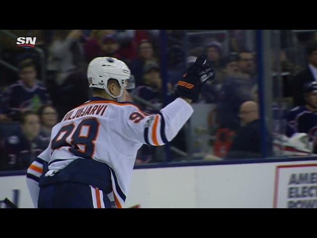 Jesse Puljujärvi - Goal Assist vs Columbus - 60fps