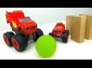 Вспыш и чудо машинки играют в боулинг. Видео на английском языке.
