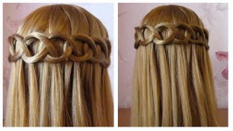 ⭐︎ Tuto coiffure simple et rapide tresse cascade boucle ⭐︎ Сoiffure facile à faire soi même