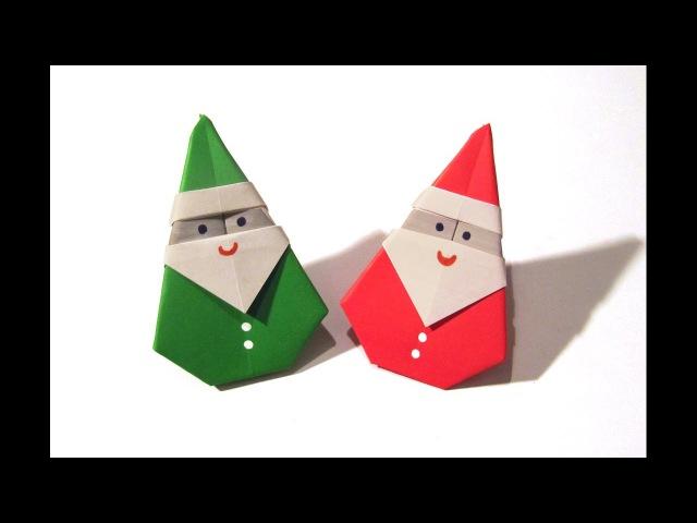 Christmas Origami Santa Claus Easy origami How to make an easy origami Santa Claus