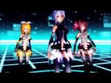 MMD Echo w Yowane Haku Append, Kasane Teto Append, Rin Kagamine Append