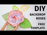 FREE template How to make largegiant paper rose