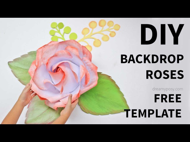 [FREE template] How to make largegiant paper rose