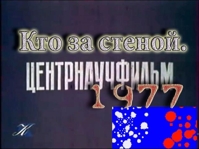 Центрнаучфильм. Кто за стеной. про искусственный интелект 1977