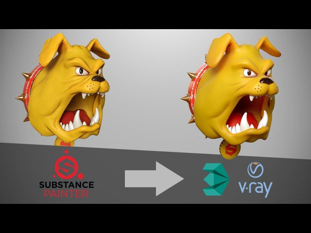Substance Painter to VRay 3 6 3dsMax