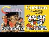 Evolution of the Genres Run and Gun (Berzerk, Contra, Blaster Master - Cuphead)