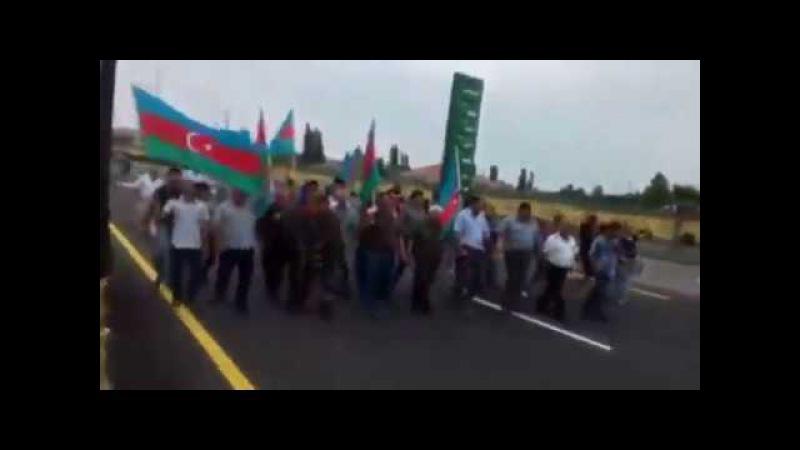 QAT Füzuli rayonunda Qarabağ yürüşü etdi.