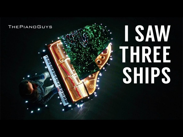 88 Piano Keys Control 500,000 Christmas Lights! I Saw Three Ships - The Piano Guys