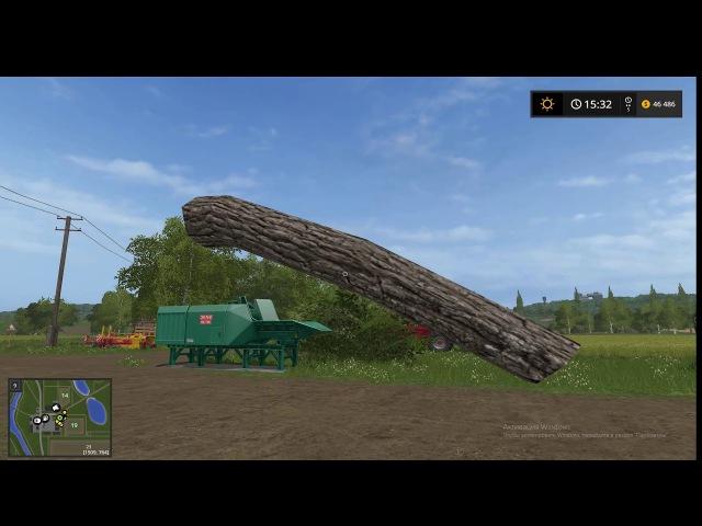 Farming Simulator 17 - Кидаю бревна на продажу