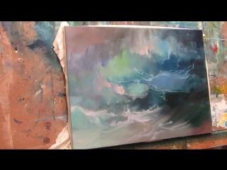 Морская волна. Бесплатный МК маслом. Мир Живописи
