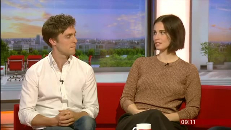 POLDARK – Хейда Рид и Джек Фартинг на шоу BBC Breakfast
