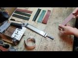 Заточка ножа наждачной бумагой наклееной на стеклянные бланки часть 1
