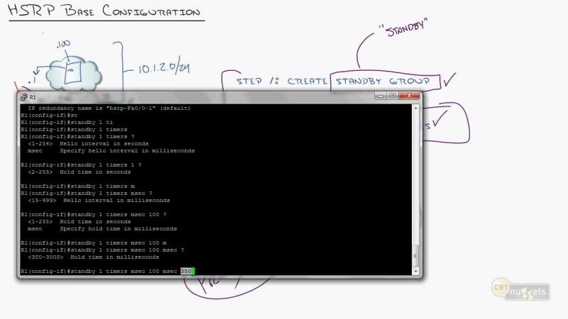 10. ICND2 First Hop Redundancy Protocols Configuring HSRP VRRP and GLBP