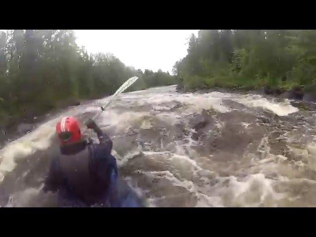 Сплав Река Охта Карелия Июль 2015 Байдарки Щука 2 Варзуга Оверкиль Пороги Rafting
