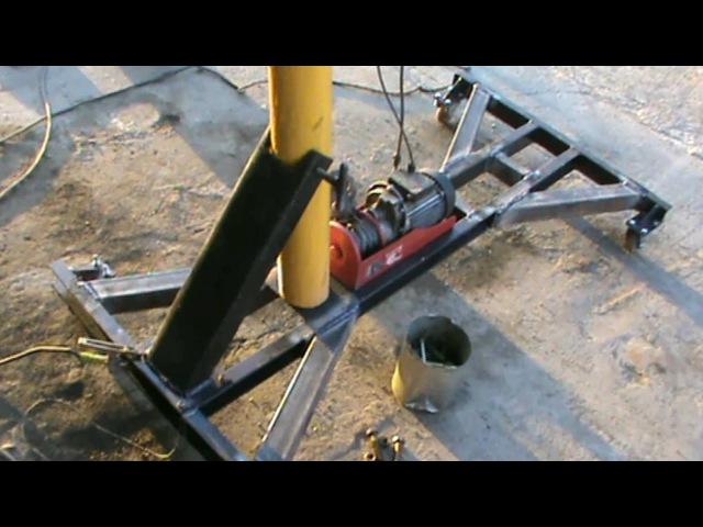 Самодельный подъемник для двигателя часть 4 Финал Homemade lift for the engine part 4 Final