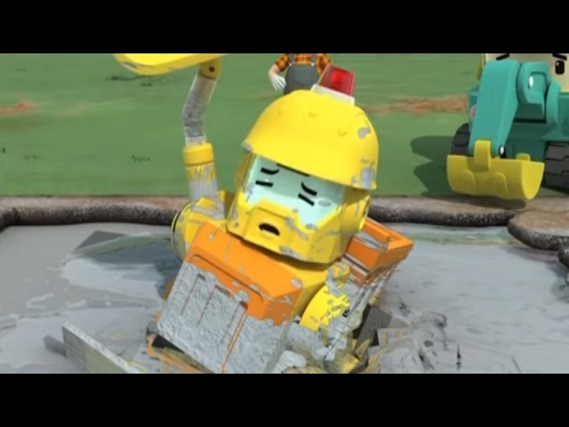 Робокар Поли - Приключение друзей- История с цементом (мультфильм 3) Познавательные мультфильмы
